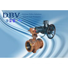 2PCS Electric Flanged Trunnion Mounted Ball Valve